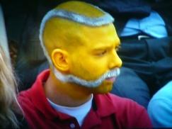 tennis ball moustache