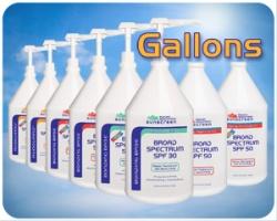 Suncream by the gallon?