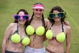 Feeling creative? How about constucting your own tennis ball bikini?