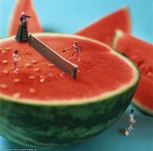 tennis watermelon